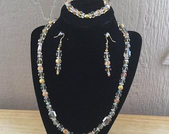 3: Necklace, Bracelet, Earrings Set