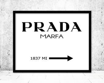 Prada Marfa, Fashion Wall Art, Prada Poster, Prada Marfa Print, Prada Marfa Poster, Prada Art, Prada Printable, Fashion Art,Instant Download