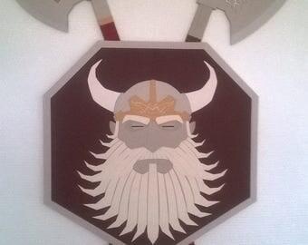 Decoration fantasy dwarf shield