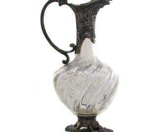SUPERB EWER Napoleon lll Crystal and pewter