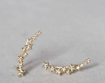 Constellation Ear Pin Earrings (3 colors)