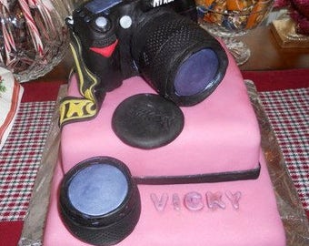 Camera Cake Topper