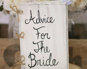 Bridal Shower Guest Book Shabby Chic Wedding Decor by Steven and Rae Designs (item number MMHDSR10013)