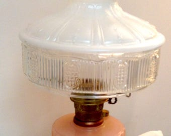 Vintage Soft Pink Aladdin Electrified Oil Lamp/Aladdin 501-9 Style Frosted Shade/Aladdin Lox/MAKE OFFEROn Chimney/