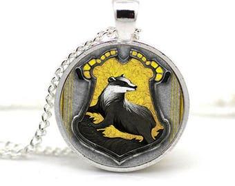 House Crest Necklace Hufflepuff
