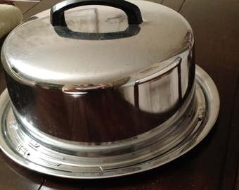 Chrome Cake Carrier