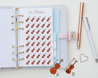 40 Mini String Instrument - Cello / Violin / Viola - Stickers. Planner Stickers for Kikki.K / Flilofax / Erin Condren and other planners