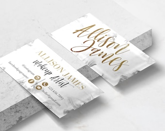 Marble and Gold Business Card