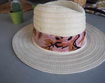 Hat type Panama Volutes & scarf