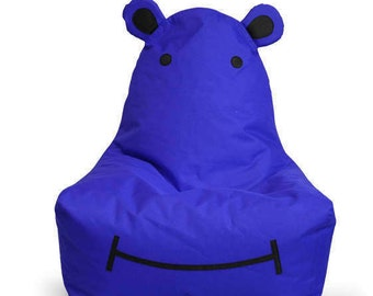 Children's Hippo Bean Bag Chair - Personalization Available