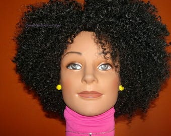 "READY TO SHIP // Synthetic crochet wig ""Kinky Curly Coils"""