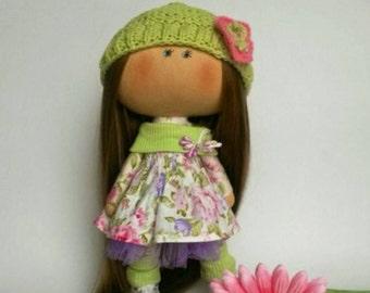 Collectable doll Fabric doll Soft doll Cute doll Unique doll Cloth doll Decor doll Doll rag Decoration  doll Textile doll Tilda Interior toy