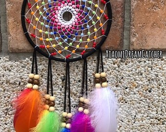 Rainbow -  Handmade Dreamcatcher