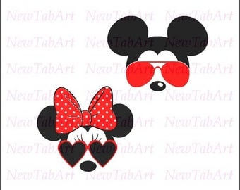 Minnie Mouse svg minnie mouse svg sunglasses minnie mouse sunglasses svg disney svg files for Cricut Vector Cut Files svg png eps dxf Silhou