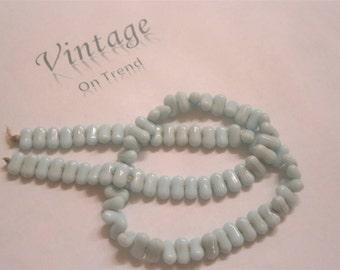 Vintage Milk Glass Beads
