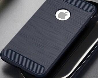 iPhone Luxury Silicone Carbon Fiber Case