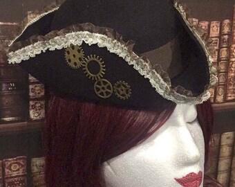 Mini Hat Victorian steampunk tricorn