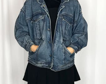 1980s No! by Claude Attias dolam sleeve denim jacket