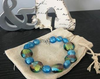Blue multicolor bracelet