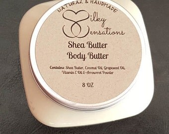 Shea Butter Body Butter (Unscented), Shea Body Butter, Unscented Body Butter, 4oz Shea Body Butter, 8oz Shea Body Butter, 16oz Shea Body