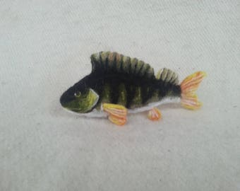 Perch Needle felted MADE TO ORDER European perch fish needle felted wool perch fish