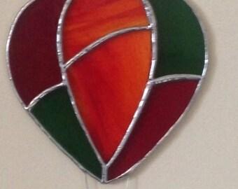 Stained Glass Hotair Balloon Suncatcher