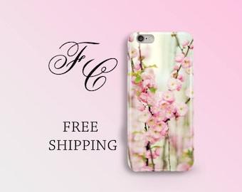 Pink Flowers iPhone 7 Plus Case iPhone 7 Flower Case iPhone 6 Case Floral iPhone 5s Case iPhone 6s Case iPhone 5SE Plastic Phone Case bbf