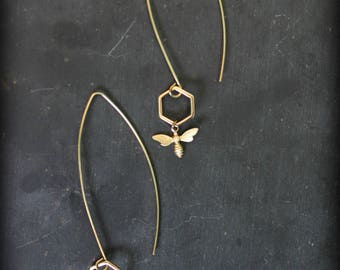 """My Queen"" earrings Golden Bee"