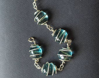 Blue water stones bracelet