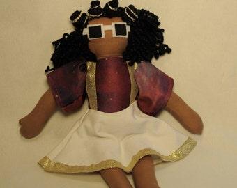 Nivea Natural Hair ooak handmade cloth doll