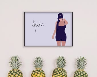 Kim Kardashian Print, Wall Art, Home Decor, Pop Culture