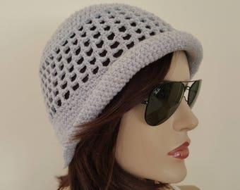 Cotton Cloche Hat, Spring ,Summer, Garden Hat ,Women, Adult Hat,
