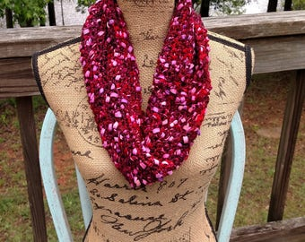 Multi-Colored Acrylic Infinity Scarf