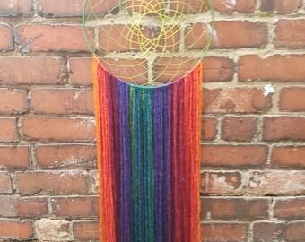 Mystical Rainbow Dreamcatcher - Large - Handmade - Boho Decor - Gift - dream catcher