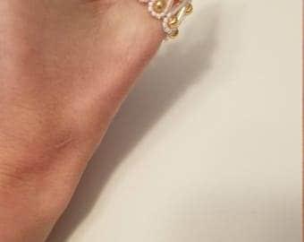 SSSSSSS Beaded Thumb Ring