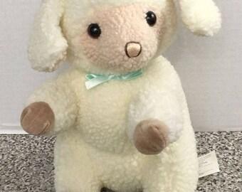 """Gund Vintage 1988 Plush Wooli Lamb 10"""" Stuffed Animal Korea K1"""