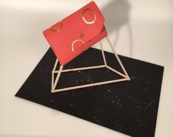Coral Polka Dot Wallet / Card Holder