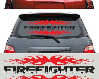 Firefighter Sticker Digital Vector Cut Files Svg Dfx Eps Png Silhouette SCAL Cricut Motivational Download DIY Paper Vinyl Die Cutting JB-494