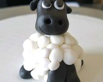 Sheep Fondant Cake Topper