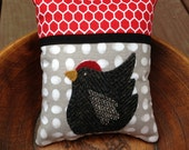 kit; chicken and egg pincushion, cotton and wool