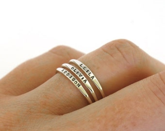 Stackable Rings Etsy