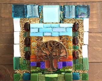 Tree of Life Mosaic Spirit Box