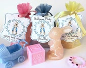 Peter Rabbit Baby Shower Party Favors   Bunny Candle Personalized Thank You Gift   Baby's First Birthday   One Year Welcome Boy Girl