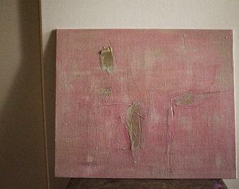 "Original painting 12""x10"" / acrylic / pink gold / canvas painting / abstract / mixed media / australia / pamelatang"