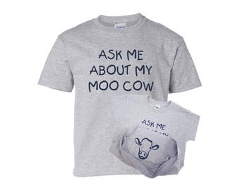 moo cow shirt, Ask me about my moo cow, peek a boo shirt, moo cow, funny toddler, cow shirt, funny kids shirt, funny t shirt, baby gift