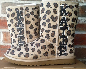 Ugg Boots Customized, Leopard Print painted on your Uggs, Painting Service, Design Fee only, painting for women, teen girls, custom design