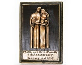 Bronze Anniversary Gift Plaque, 8 Year Anniversary Family Portrait Wall Art, Personalized Anniversary Gift for Husband and Wife, 19 Year