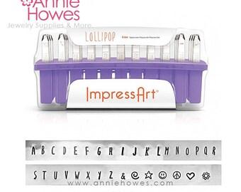 Metal Stamp Set. Impressart Alphabet Stamp Set - 4mm metal stamps - Lollipop Uppercase Set