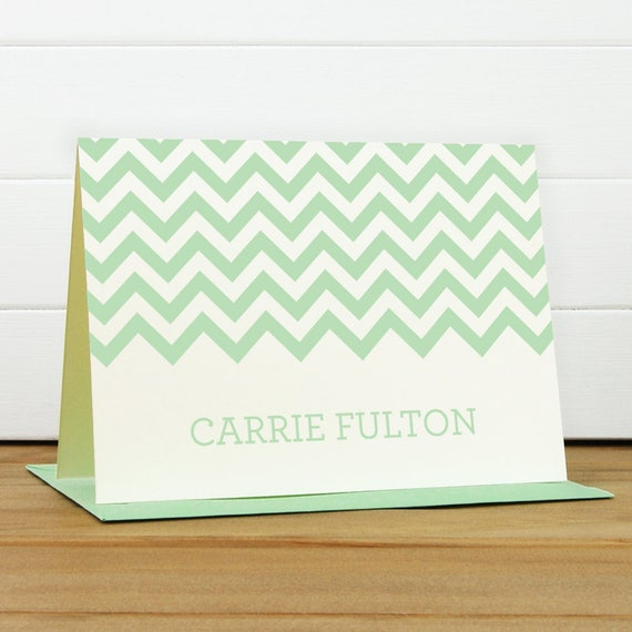 Personalized Stationery Set / Personalized Stationary Set - CHEVRON Custom Personalized Note Card Set - Modern Bold