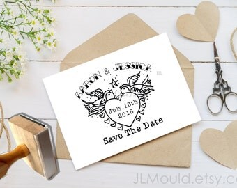0004 JLMould Custom Tattoo Rockabilly Rock and Roll Wedding Invitations and Custom Rubber Stamp Tattoos